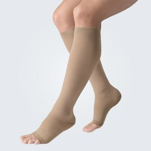 Belsana Classic with Cotton Open Toe Below the Knee Compression Socks