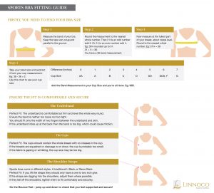 Sport Bra Measurement Chart