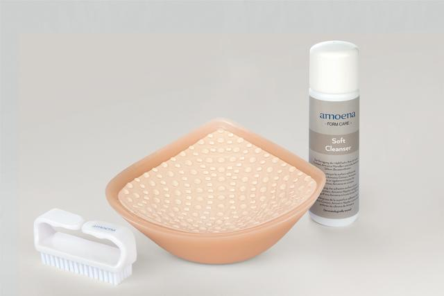 Amoena Soft Cleanser & Soft Brush for Amoena Contact breast prosthesis