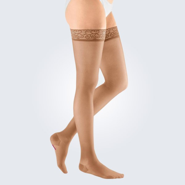Mediven Sheer and Soft Closed ToeThigh Length Compression Stockings