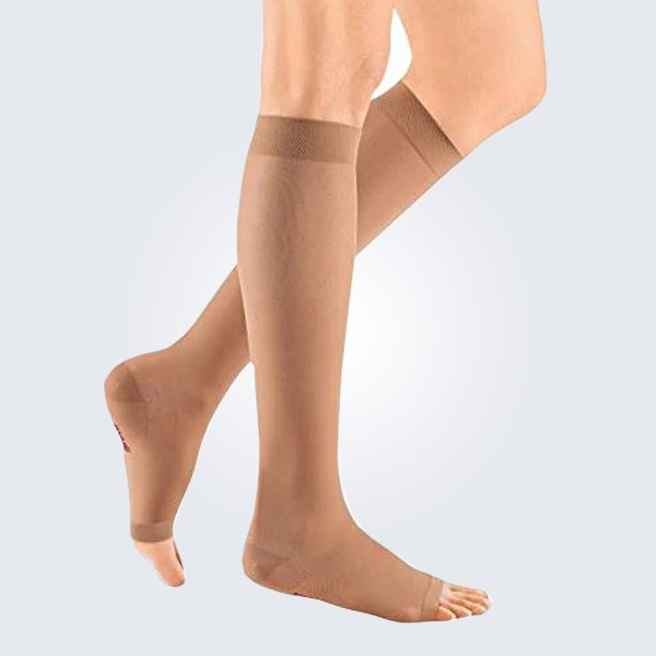 Mediven Sheer and Soft Open Toe Below the Knee Compression Stockings