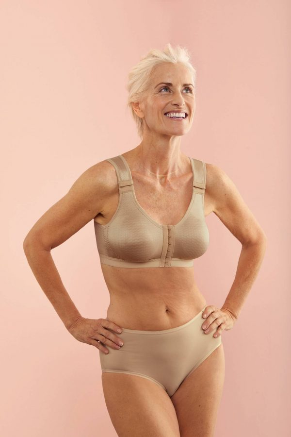 Compression bra for the treatment of lymphoedema